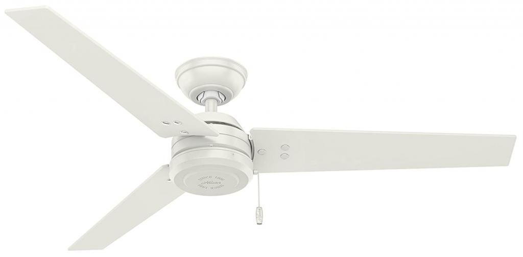 """Hunter Fan Company 59263 Cassius Fresh White Ceiling Fan, 52"""""""