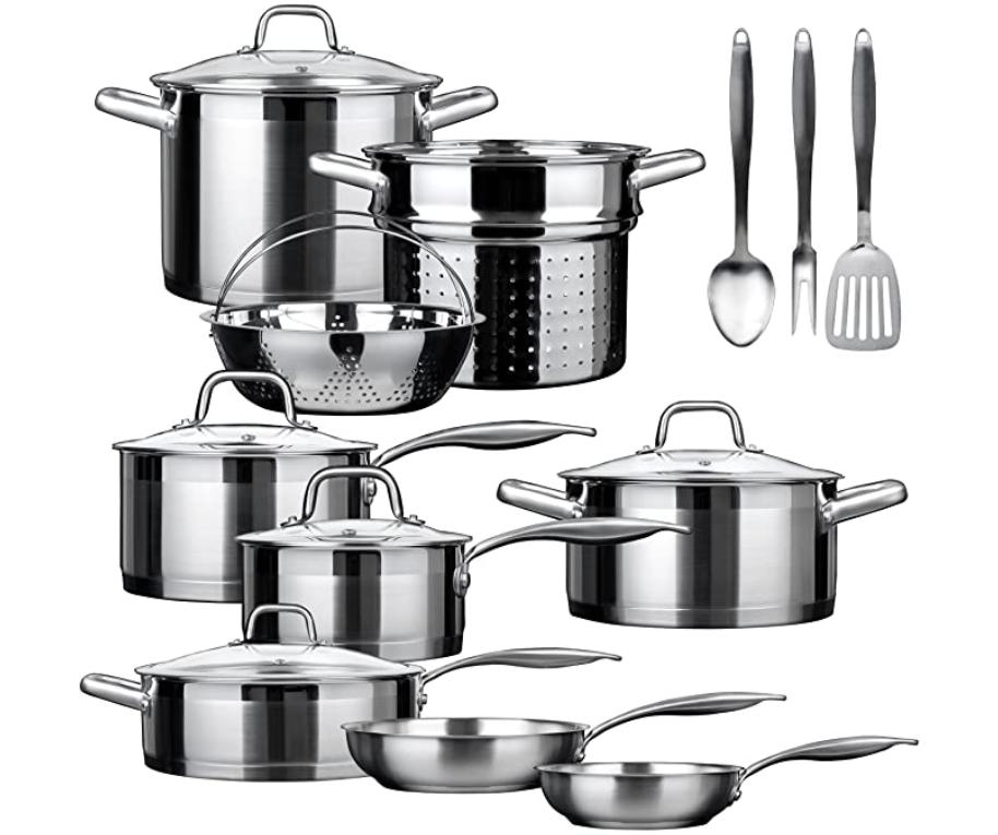 Duxtop SSIB-17 Professional Cookware Set