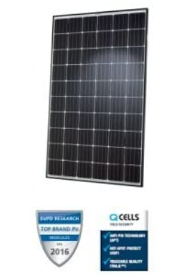 Hanwha Qcells Q.Peak G3.1 300W BLK/WHT Solar Panel - Pack of 4