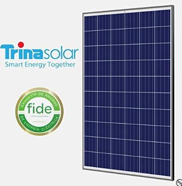 Trina Solar 300W Poly SLV/WHT 1000V Solar Panel - Pack of 4